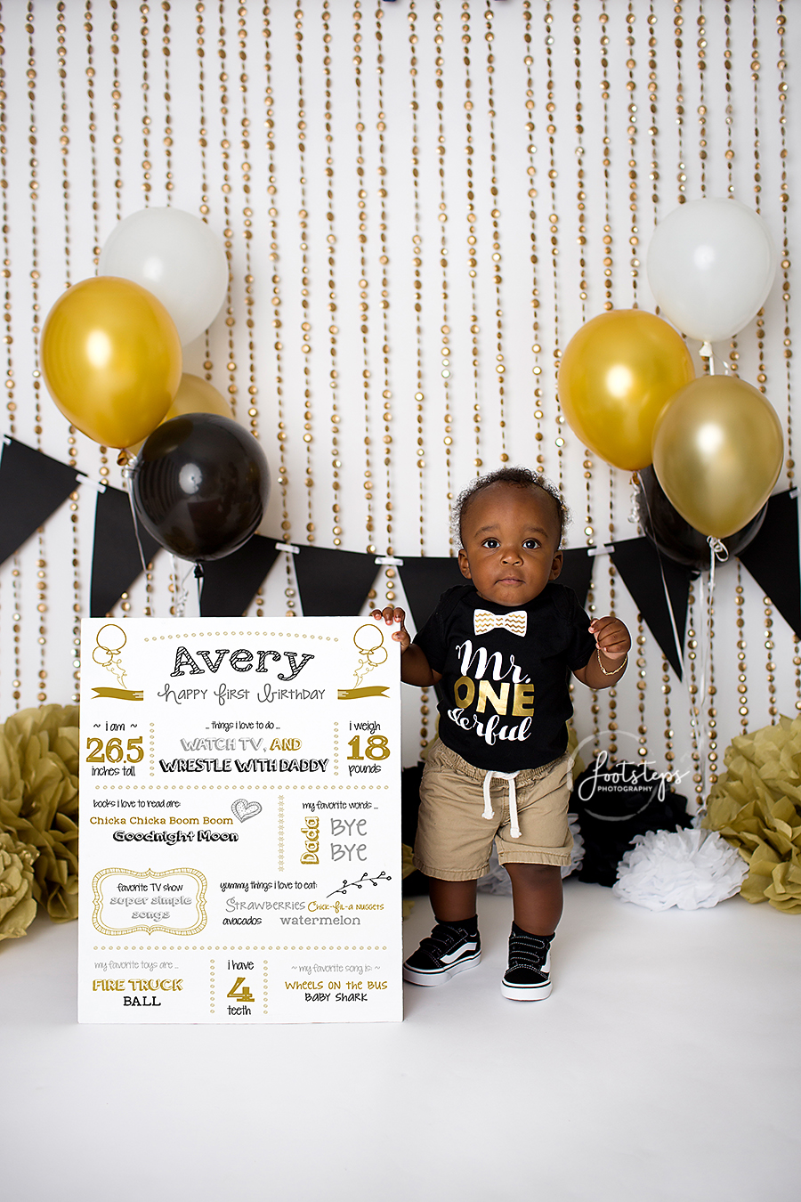 (Interested in a custom made birthday board  Let me know if you d like to  use one in your session!) suspenders cake bowtie black gold footsteps  photography b54b0e5c9