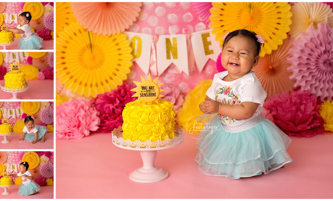 Fantastic Sunshine Cake Smash Photography Session Vacaville Baby Photographer Funny Birthday Cards Online Inifofree Goldxyz